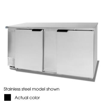 BEVBB68HC1B - Beverage Air - BB68HC-1-B - 69 in Black Solid Door Back Bar Cooler Product Image