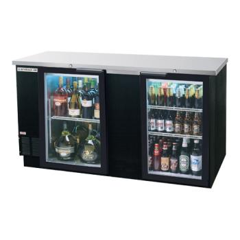 BEVBB68HC1GB - Beverage Air - BB68HC-1-G-B - 69 in Black Glass Door Back Bar Cooler Product Image