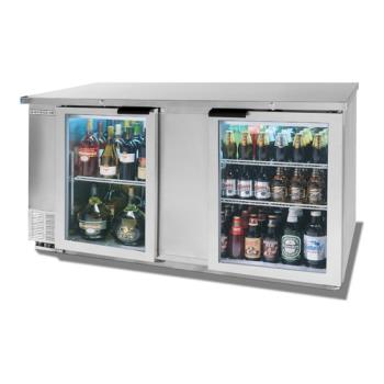 BEVBB68HC1GS - Beverage Air - BB68HC-1-G-S - 69 in S/S Glass Door Back Bar Cooler Product Image