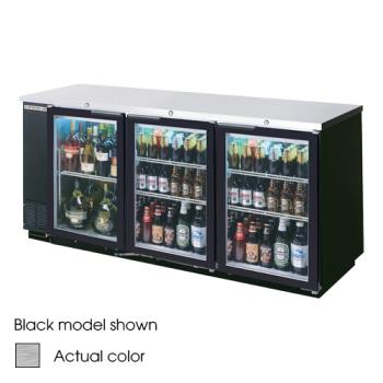 BEVBB78G1S - Beverage Air - BB78G-1-S - 79 in Glass Door Back Bar Cooler Product Image