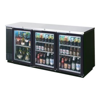 BEVBB78HC1GB - Beverage Air - BB78HC-1-G-B - 79 in Black Glass Door Back Bar Cooler Product Image