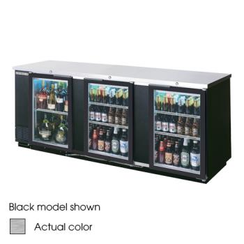 BEVBB94G1S - Beverage Air - BB94G-1-S - 95 in Glass Door Back Bar Cooler Product Image