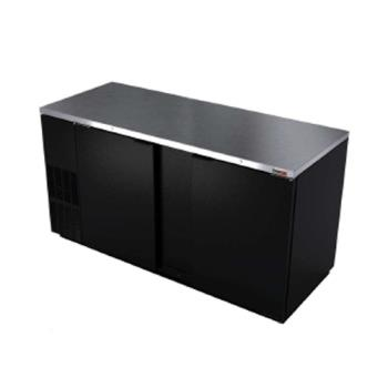 FGAFBB59 - Fagor - FBB-59 - 59 1/2 in 2 Door Black Back Bar Product Image