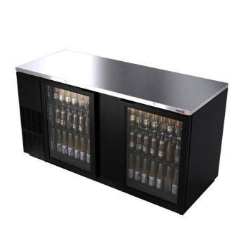 "FGAFBB69G - Fagor - FBB-69G - 69 1/2"" 2 Glass Door Black Back Bar Product Image"