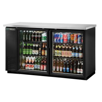 TRUTBB2460GHCLD - True - TBB-24-60G-HC-LD - 61 in Back Bar Cooler w/ 2 Glass Swing Doors Product Image