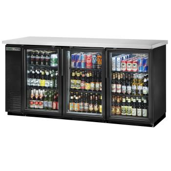 TRUTBB2472GHCLD - True - TBB-24-72G-HC-LD - 73 in Back Bar Cooler w/ 3 Glass Swing Doors Product Image