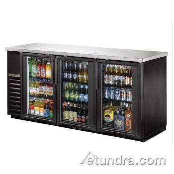 TRUTBB2472G - True - TBB-24-72G-LD - 73 in Back Bar Cooler w/ 3 Glass Doors Product Image