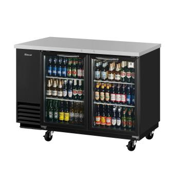 TURTBB2SGN - Turbo Air - TBB-2SG-N - 59 in Back Bar Cooler w/ 2 Glass Doors Product Image