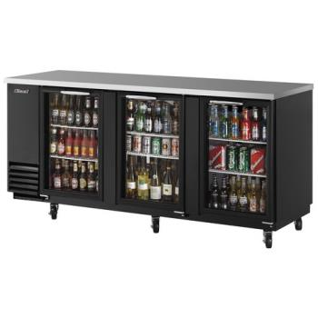 TURTBB4SG - Turbo Air - TBB-4SG - 90 in Back Bar Cooler w/3 Glass Doors Product Image