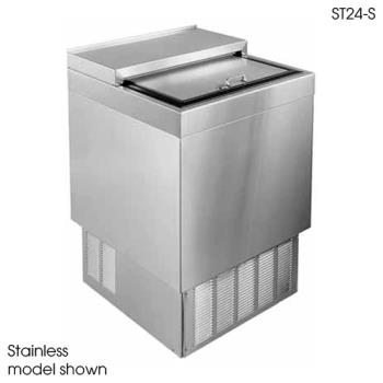 "GLTST24B - Glastender - ST24-B - 24"" Vinyl-Clad Bottle Cooler w/Stainless Interior Product Image"