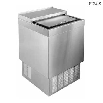 "GLTST24SFG - Glastender - ST24-SFG - 24"" Stainless Front/Sides Bottle Cooler w/Galvanized Interior Product Image"