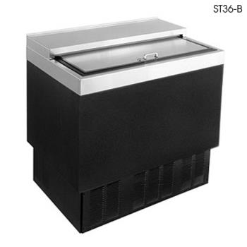 "GLTST36B - Glastender - ST36-B - 36"" Vinyl-Clad Bottle Cooler w/Stainless Interior Product Image"