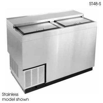 "GLTST48B - Glastender - ST48-B - 48"" Vinyl-Clad Bottle Cooler w/Stainless Interior Product Image"