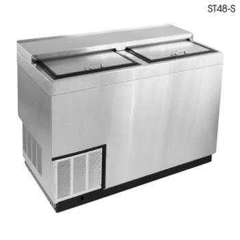 "GLTST48SFG - Glastender - ST48-SFG - 48"" Stainless Front/Sides Bottle Cooler w/Galvanized Interior Product Image"