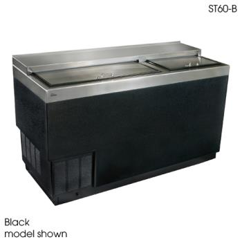"GLTST60SFG - Glastender - ST60-SFG - 60"" Stainless Front/Sides Bottle Cooler w/Galvanized Interior Product Image"