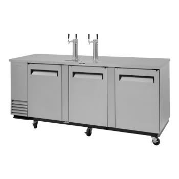 TURTBD4SDN - Turbo Air - TBD-4SD-N - 90 in 2 Tower S/S Super Deluxe Draft Beer Dispenser Product Image