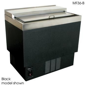 "GLTMF36SF1 - Glastender - MF36-SF1 - 1-Shelf 36"" Stainless Front/Sides Mug Froster Product Image"