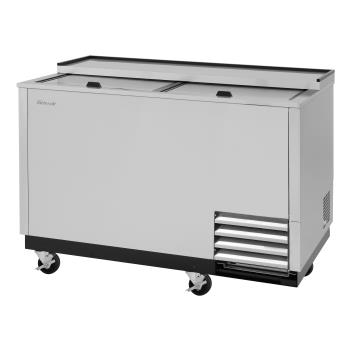 TURTBC50SDGFN - Turbo Air - TBC-50SD-GF-N - 50 in 2-Lid Stainless Steel Glass Chiller Product Image