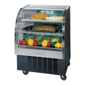 BEVCDR31B20 - Beverage Air - CDR3/1-B-20 - 37 in Black Refrigerated Display Case Product Image