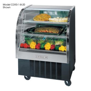 BEVCDR41B20 - Beverage Air - CDR4/1-B-20 - 49 in Black Refrigerated Display Case Product Image