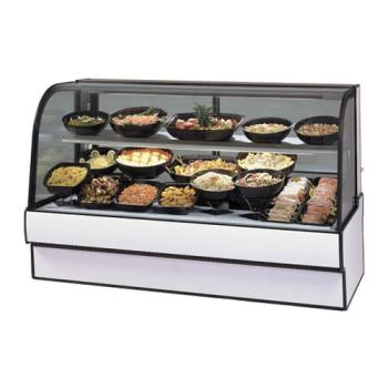 "FEDCGR3648CD - Federal - CGR3648CD - Curved Glass 36"" Refrigerated Deli Case Product Image"