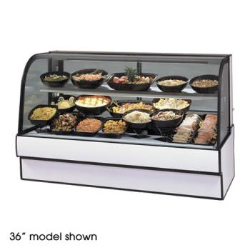 "FEDCGR7748CD - Federal - CGR7748CD - Curved Glass 77"" Refrigerated Deli Case Product Image"