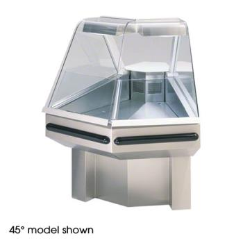 FEDSQROC90SS - Federal - SQ-ROC90SS - Market Series Refrigerated 90° Outside Corner Self-Serve  Deli Case Product Image