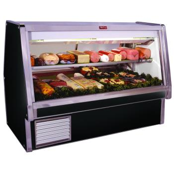"HWDSCCDS34E4B - Howard McCray - SC-CDS34E-4-B - 52 1/2"" x 53 1/2"" Black Deli Case Product Image"