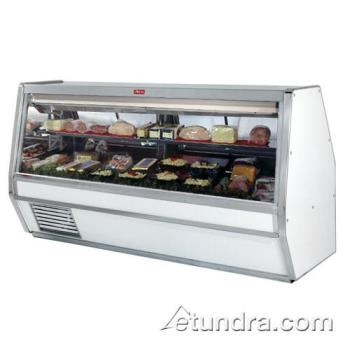 "HWDSCCDS40E10 - Howard McCray - SC-CDS40E-10 - 124 1/2"" x 53"" White Deli Case Product Image"