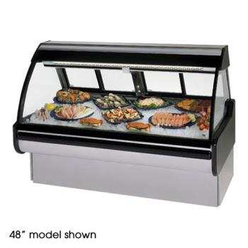 "FEDMCG854DF - Federal - MCG-854-DF - Curved Glass 96"" Seafood/Fish Maxi Deli Case Product Image"