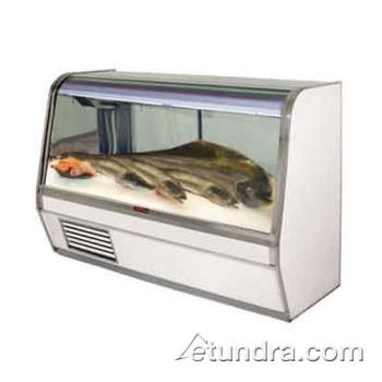 "HWDSCCFS32E8C - Howard McCray - SC-CFS32E-8C - 98"" x 50 1/2"" White Fish/Poultry Case Product Image"