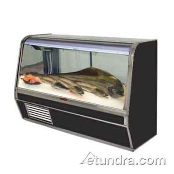"HWDSCCFS32E8CB - Howard McCray - SC-CFS32E-8C-B - 98"" x 50 1/2"" Black Fish/Poultry Case Product Image"