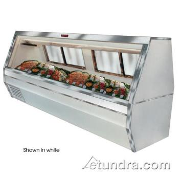 "HWDSCCFS3512B - Howard McCray - SC-CFS35-12-B - 143"" Black Double Duty Fish/Poultry Case Product Image"