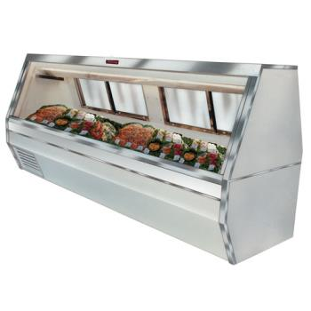 "HWDSCCFS358 - Howard McCray - SC-CFS35-8 - 95"" White Double Duty Fish/Poultry Case Product Image"