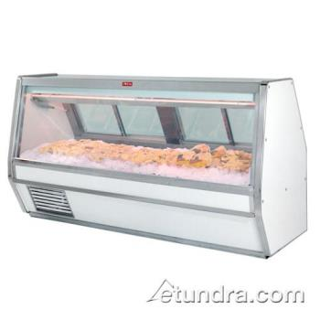 "HWDSCCFS40E12 - Howard McCray - SC-CFS40E-12 - 148 1/2"" x 53"" White Fish/Poultry Case Product Image"