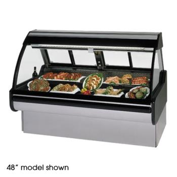 "FEDMCG1054DM - Federal - MCG-1054-DM - Curved Glass 120"" Red Meat Maxi Deli Case Product Image"