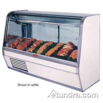 "HWDSCCMS32E8CB - Howard McCray - SC-CMS32E-8C-B - 98"" x 50 1/2"" Black Red Meat Case Product Image"