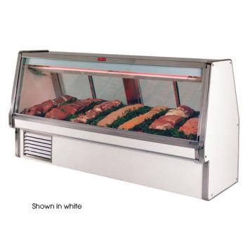 "HWDSCCMS34E10B - Howard McCray - SC-CMS34E-10-B - 124 1/2"" x 53 1/2"" Black Red Meat Case Product Image"