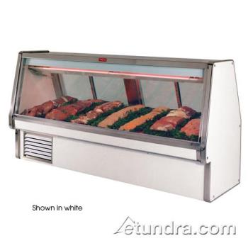 "HWDSCCMS34E12B - Howard McCray - SC-CMS34E-12-B - 148 1/2"" x 53 1/2"" Black Red Meat Case Product Image"