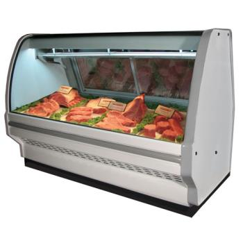"HWDSCCMS40E4C - Howard McCray - SC-CMS40E-4C - 51"" x 53"" White Red Meat Case Product Image"