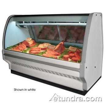 "HWDSCCMS40E8CB - Howard McCray - SC-CMS40E-8C-B - 99"" x 53"" Black Red Meat Case Product Image"