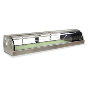 "HOHHNC210BARS - Hoshizaki - HNC-210BA-R-S - 83"" Stainless Steel Sushi Display Case w/ Condenser Product Image"