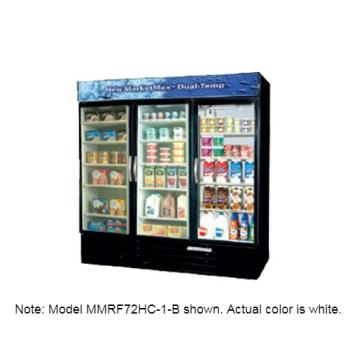 BEVMMRF72HC1W - Beverage Air - MMRF72-1-WW-A-LED - 72 cu ft Dual Temp White Glass Door Merchandiser Product Image