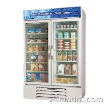 BEVMMRF725W - Beverage Air - MMRF72-5-W - 75 in Dual Temp White Glass Door Merchandiser Product Image
