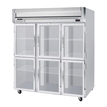 BEVHFPS35HG - Beverage Air - HFPS3-5HG - H Spec Series (3) 1/2 Glass Door Freezer Product Image
