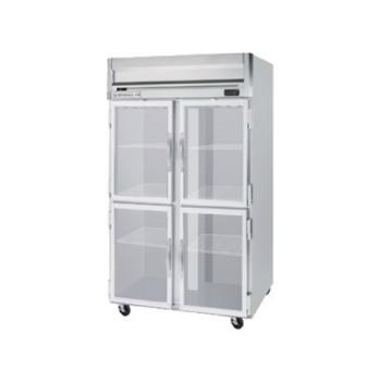BEV0HFPS2HC1HG - Beverage Air - HFPS2HC-1HG - 4 Glass 1/2-Door Horizon Series Reach-in Freezer Product Image