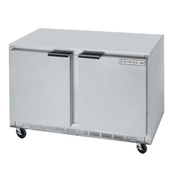 BEVUCF48AHC09 - Beverage Air - UCF48AHC-09 - 48 in 2 Door Undercounter Freezer w/ Locking Doors Product Image