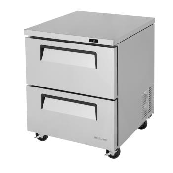 TURTUF28SDD2N - Turbo Air - TUF-28SD-D2-N - 28 in 2-Drawer Undercounter Freezer Product Image