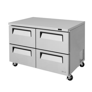 TURTUF48SDD4N - Turbo Air - TUF-48SD-D4-N - 48 in 4-Drawer Undercounter Freezer Product Image