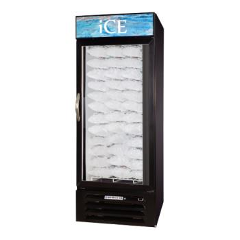 BEVMMF271BICELED - Beverage Air - MMF27-1-B-ICE-LED - 27 cu/ft Black Single Door Ice Merchandiser with LED Display Product Image